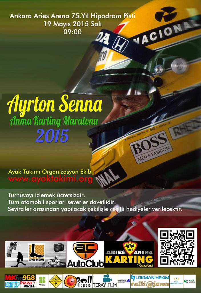 Ayrton Senna Anma Karting Maratonu 2015